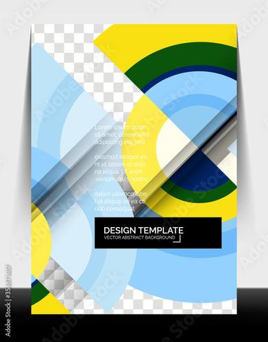 Circle design a4 flyer print template, annual report design Canvas Print
