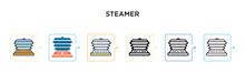 Steamer Vector Icon In 6 Diffe...