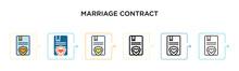 Marriage Contract Vector Icon ...