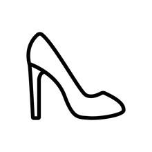 Stiletto Spike Heel Shoe Icon ...