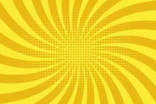 Yellow Sun Rays Background Wit...