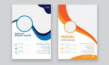 Travel Flyer Template Design W...