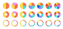 Colorful Pie And Donut Charts....