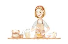 Illustration - Woman In An Apr...