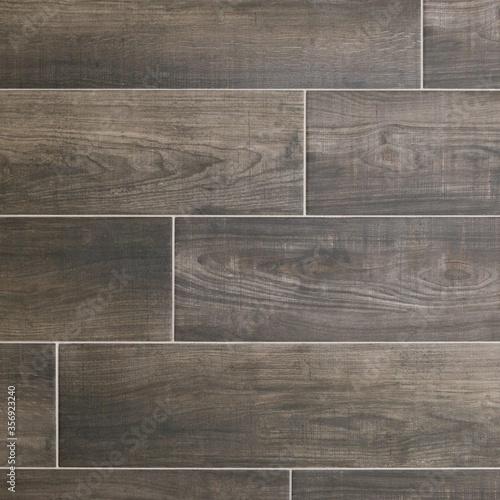 Photo Wood look porcelain tile texutre in charcoal