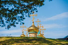 Golden Domes Of Orthodox Church