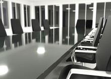 Empty Conference Room 3d Rende...