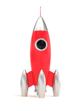 Space Rocket Isolated On White