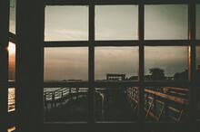 Evening Sky View Through The P...