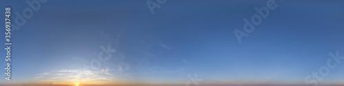 Nahtloses Panorama mit Sonnenuntergang - Himmel als 360-Grad-Ansicht zur Verwend Canvas Print