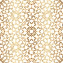 Islamic Golden Seamless Patter...