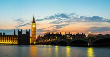 Big Ben, Parliament, Westminster Bridge In London
