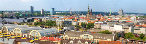 Obraz Panoramic aerial view of Riga - fototapety do salonu