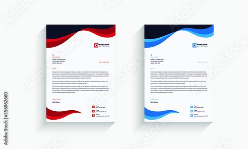 Fototapeta Letterhead Design Template - vector obraz