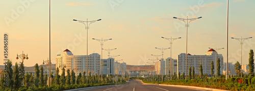 Ashgabat, Turkmenistan - May 02, 2019: Modern architecture of Ashgabat Canvas Print