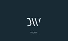 Alphabet Letter Icon Logo JW