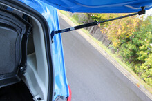 Gas Strut On Vehicle Hatchback Door