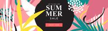 Tropical Summer Sale Illustrat...