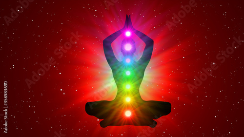 Photo Meditation People Achieve Enlightenment, Activation Of Chakra, Aura In The Body