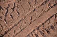 Brown Mars Rover Soil Tire Tracks Dusty Dust Brochure Background Fliers Design