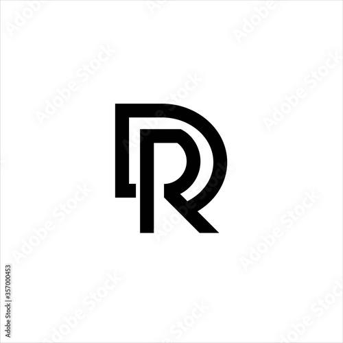 Photo Letter D and R Initial Logo Template