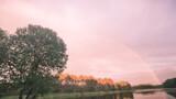 Fototapeta Tęcza - Lake sun