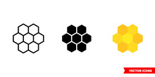 Cells, Honeycombs Icon Of 3 Ty...