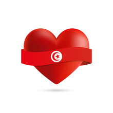 Heart With Waving Tunisia Flag...