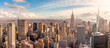 New York City skyscrapers, aerial panorama view