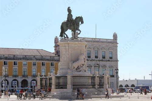 Estatua de José I en la Plaza del Comercio de Lisboa
