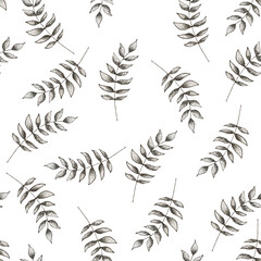 Panel Szklany Minimalistyczny Seamless texture of leaves in the graphic style