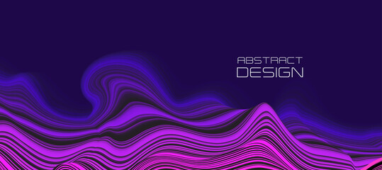 Vector Modern abstract design background Flow motion