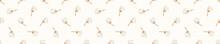 Seamless Background Dandelion Seed Banner. Gender Neutral Baby Pattern. Simple Whimsical Minimal Earthy 2 Tone Color. Kids Nursery Flower Border Or Boho Fashion Tribbon Trim