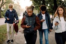 Multi-ethnic Teenage Friends U...