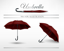 Red Umbrella Vector Illustrati...