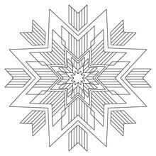 Octagonal Star Snowflake Manda...