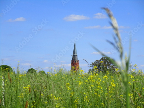 church in the meadow Fototapeta