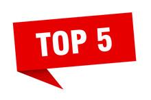 Top 5 Banner. Top 5 Speech Bub...