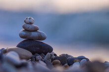 Stack Of Zen Stones On Pebble ...