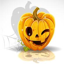 Halloween Cut Out Pumpkin Wink...