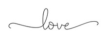 LOVE. Lettering Typography Pos...