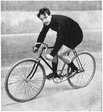 The Winner Of The Track Cycling Grand Prix De Paris (1895, 1896, 1897) - Ludovic Morin. Illustration Of The 19th Century. White Background.