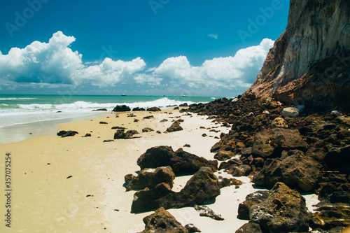 Fotografie, Tablou Beach of praia do pipa in the northern state of Natal, posh and exclusive locati