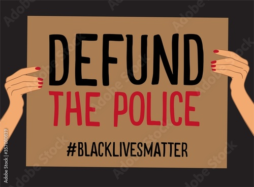 Hand drawn protest poster defund the police Canvas-taulu
