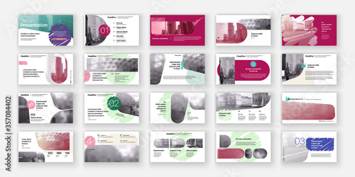 Obraz na plátne Geometric Colored Presentation Element Templates