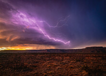 Lightning Storm Over A New Mex...