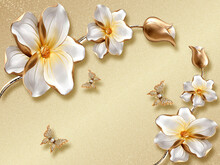 Frangipani Flowers On Wooden B...