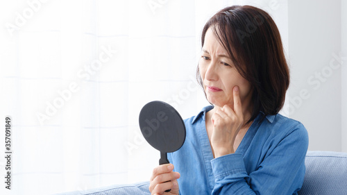 スキンケア ミドル 女性 Slika na platnu