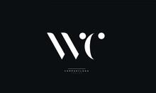 WC Letter Logo Alphabet Design...