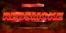 Editable Text Effect - Red Smo...